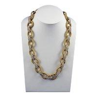 Ken Lane Gilt Rhinestone Chain Link Necklace