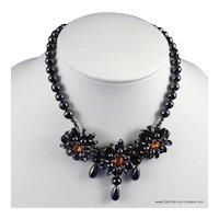 Rousselet Bead and Rhinestone Necklace