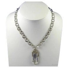 Deco Crystal and Rhinestone Necklace