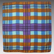 Emanuel Ungaro Paris Vintage Silk Scarf Geometric 70s Pattern