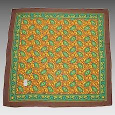Yves Saint Laurent YSL Paris Vintage Silk Scarf Cashmere Print