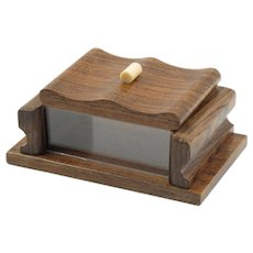 French Mid-Century Modern Rosewood and Lucite Decorative Lidded Box