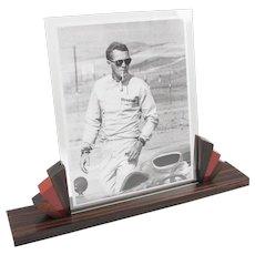 French Art Deco Picture Photo Frame Macassar Wood & Bakelite