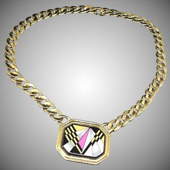 Michaela FREY FreyWille first mark Hermes enameling Necklace