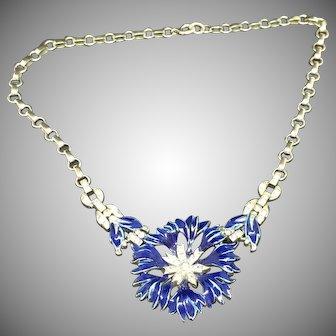 Trifari A.Philippe 1940 enamel necklace