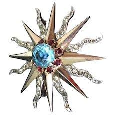 Reja Sterling sun pin pendant