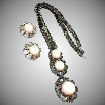 Coppola Toppo for Valentino 1971 extra long pendant necklace and earrings bookpiece