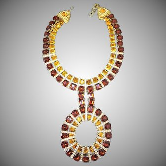1971 Barbara Berger book piece  Coppola Toppo for Valentino topaz crystals amazing Necklace Collar