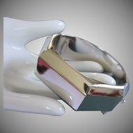 Vintage Whiting & Davis Polished Silver Tone Bracelet ~ REDUCED!!!