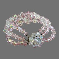 Final Markdown - Three Strands of AB Crystals Bracelet