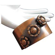 Rebajes Wide Copper Cuff Vintage Bracelet