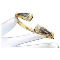 KJL for Avon Duchess Panther Collection Enamel Rhinestone Bracelet