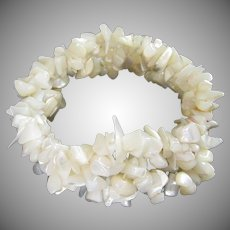Mother of Pearl Multi Strand Stretch Bracelet