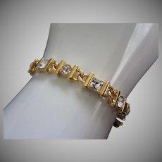 Vintage Napier Clear Rhinestone Tennis Bracelet