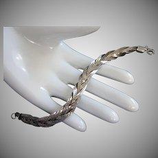 Vintage Braided Silver Tone Bracelet