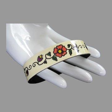 Summery West Germany Enamel Flower Bracelet