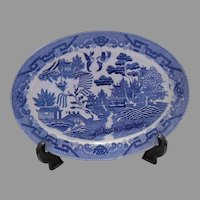 Final Markdown - 20th Century Japanese Blue Willow Platter