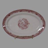 Final Markdown - American Red Willow Restaurantware Platter, 1950's
