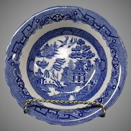 Allerton Blue Willow Salad or Vegetable Bowl, Made in England