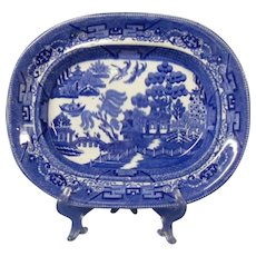 Final Markdown - Wedgwood Blue Willow Platter, Early 1900's