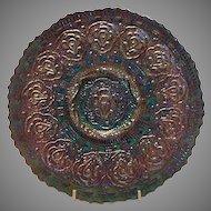 Final Markdown - Fenton Amethyst Carnival Glass Persian Medallion Plate, 1970's