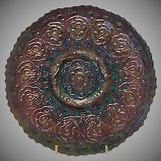 Fenton Amethyst Carnival Glass Persian Medallion Plate, 1970's