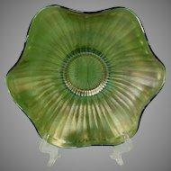 Fenton Striking Emerald Green Carnival Glass Bowl
