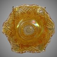 Imperial Marigold Carnival Glass Berry Bowl