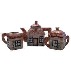 Japanese Tea Set, Teapot, Creamer & Sugar, English Cottage Theme ~ REDUCED!