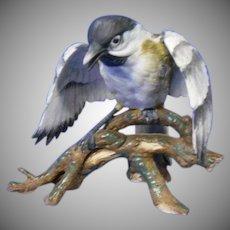 Vintage Porcelain Chickadee Figurine, GOTO Original of Japan
