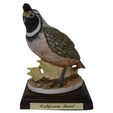 Lefton California Quail Vintage Ceramic Bird Figurine