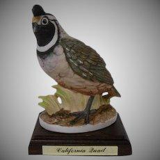 Lefton California Quail Vintage Ceramic Bird Figurine