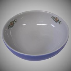 Large Hall Blue and White Rose Parade Bowl