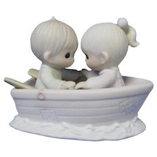 Vintage Enesco Figurine, Friends Never Drift Apart