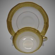Aynsley of England Elegant White and Gold Cup and Saucer ~ REDUCED!