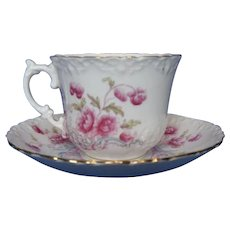 Final Markdown - Vintage Aynsley Cup and Saucer Set, Pink Flowers