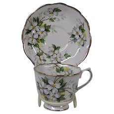 Royal Albert Dogwood Blossoms Cup and Saucer Set
