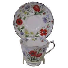 Royal Albert Floral Design Cup and Saucer Set, Autumn's Hope