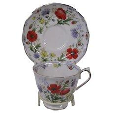Final Markdown - Royal Albert Floral Design Cup and Saucer Set, Autumn's Hope
