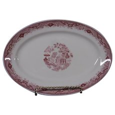 American Red Willow Restaurantware Platter, 1950's