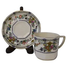 AdderleyWare of England Mini Cup and Saucer, Brooklyn Pattern