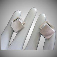 Vintage Silver Tone Cufflinks