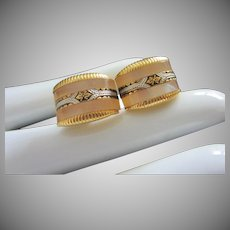 Vintage Mother of Pearl and Damascene Cufflinks ~ REDUCED!