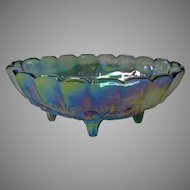 Final Markdown - Indiana Glass Blue Carnival Glass Banana Boat