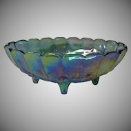 Vintage Indiana Glass Blue Carnival Glass Banana Boat
