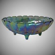 Vintage Indiana Glass Blue Carnival Glass Banana Boat