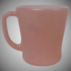Fire King Soft Pink Mug, Coffee Mug or Cup