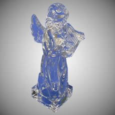 Vintage Mikasa Lead Crystal Clear Glass Angel Figurine, Made in Germany