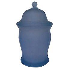 Indiana Glass Misty Blue Vintage Ginger Jar