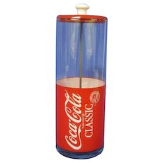 Vintage Coke Straw Dispenser, Advertising Memorabilia